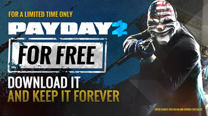 PAYDAY 2 is free on Steam til stocks last