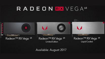 Az AMD bejelentette az RX Vega 64 és 56 videokártyákat