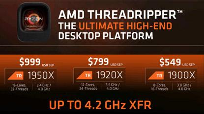 Megjelentek a 8 magos Ryzen Threadripper 1900X CPU-k