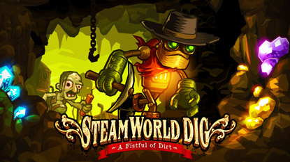 Ingyenesen beszerezhető a SteamWorld Dig cover