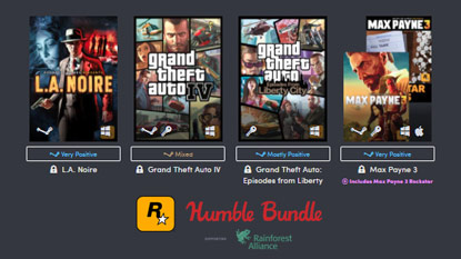 The Rockstar Games Humble Bundle cover