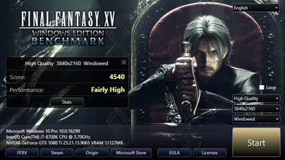 Final Fantasy XV: PC benchmark program érkezett