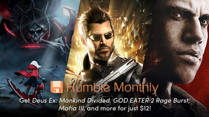 Get Deus Ex: Mankind Divided, GOD EATER 2, and Mafia III in the April Humble Monthly Bundle cover