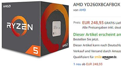AMD Ryzen 5 2600X: felbukkant az Amazon oldalán