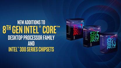 Új Intel 8. generációs asztali CPU-k és chipsetek váltak elérhetővé