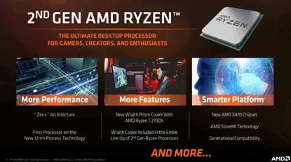 Előrendelhetők a második generációs Ryzen CPU-k