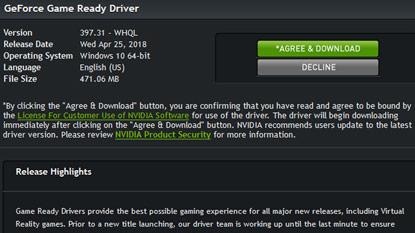 Problémák vannak az új Nvidia Game Ready illesztőprogrammal