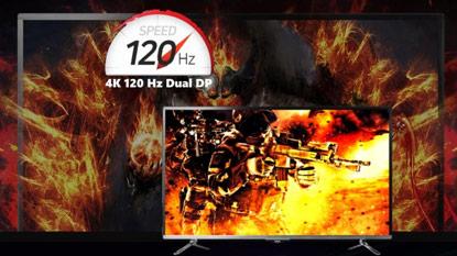 Itt az első 120Hz-es 4K monitor