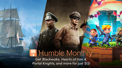 Get Hearts of Iron IV, Blackwake, and Portal Knights in July's Humble Monthly cover