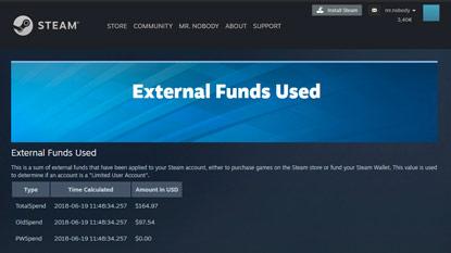 Ez a Steam oldal megmutatja, mennyit költöttél játékokra