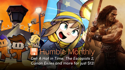 Get Conan Exiles, The Escapists 2, and A Hat in Time in August's Humble Monthly cover