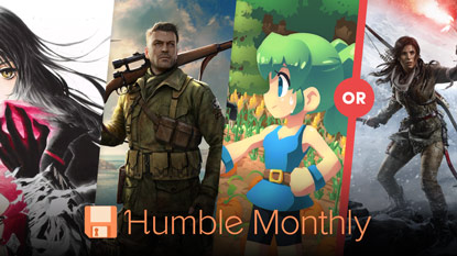 Choose to get Rise of the Tomb Raider or 3 other games in September's Humble Monthly cover
