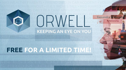 Grab Orwell for free right now cover