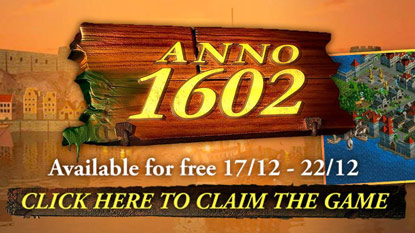 Get Anno 1602 for free right now