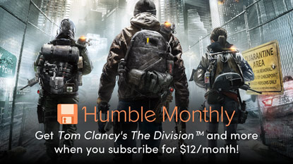 Get Tom Clancy's The Division and Yakuza 0 in February's Humble Monthly