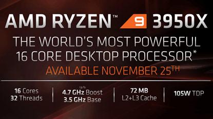 Az AMD felfedte a Ryzen 9 3950X árát és megjelenési dátumát