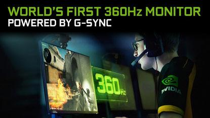 Az ASUS és az NVIDIA felfedte a világ első 360 Hz-es gaming monitorát