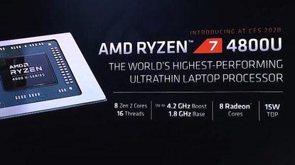 CES 2020: az AMD bejelentette a Ryzen 4000 mobile szériás CPU-kat
