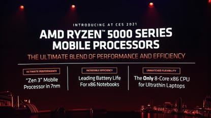 Az AMD leleplezte a Ryzen 5000 mobil szériás CPU-kat