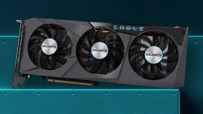 Képeken a Gigabyte Radeon RX 6600 EAGLE kártya