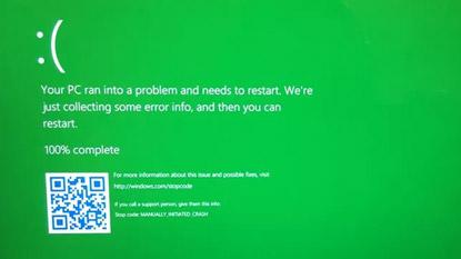 Windows: Kék halál helyett zöld?
