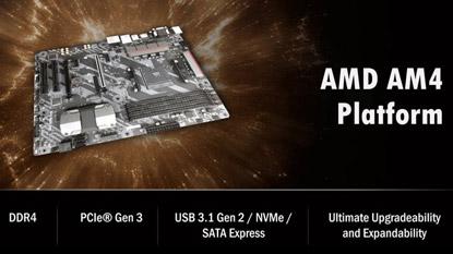 Ryzen PC-k és AM4 alaplapok az AMD CES bemutatóján